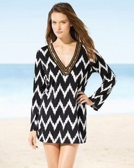 La Blanca Night Waves Tunic Swim Cover Up