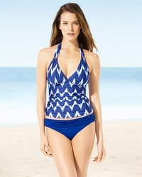 La Blanca Night Waves Halter Goddess Tankini Top