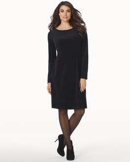 Velour Long Sleeve Short Dress