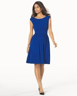 Muse Fit and Flare Sleeveless Dress Royal