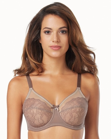 Retro Chic Full Figure Unlined Lace Underwire Bra