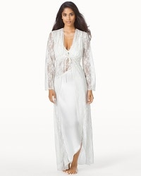 Jonquil Winter Bride Long Lace Sheer Robe