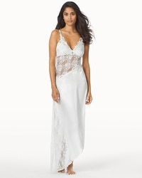 Jonquil Winter Bride Satin and Lace Long Nightgown