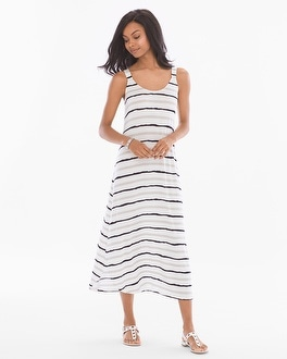 Soft Jersey Shirttail Midi Tank Dress