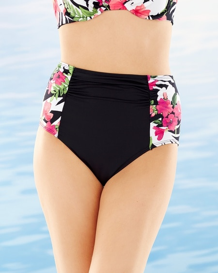 Victoria Blooms Retro High Waist Swim Bottom