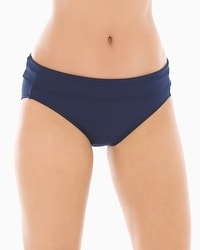 Soma Swim Slimming Foldover Hipster Bottom Navy