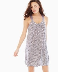 Midnight by Carole Hochman Chemise Animal Dots