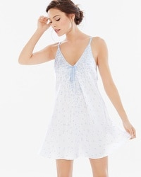 Oscar de la Renta Sleep Chemise Something Blue Tulips
