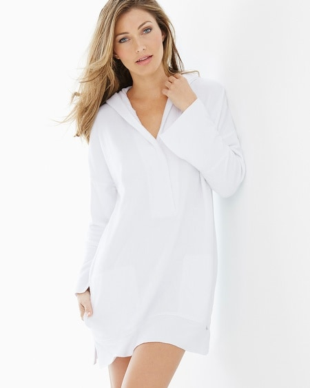 Baby Terry Hooded Pullover Robe White