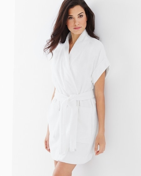 Cotton Terry Short Sleeve Robe