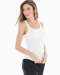 Midnight by Carole Hochman Lounge Rib Tank Top Ivory