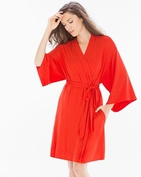 Cool Nights Short Robe Poppy Red