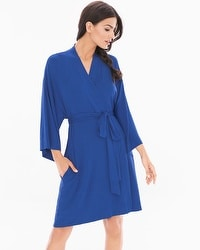 Cool Nights Short Robe Bright Blue