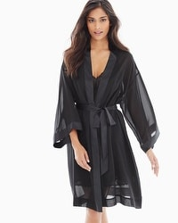 Chiffon Short Robe Black
