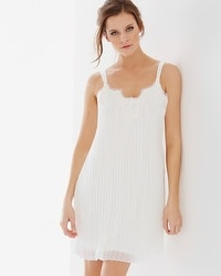 Luxe Pleated Sleep Chemise Ivory