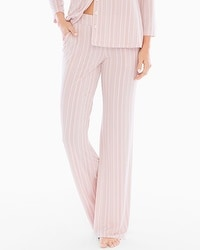 Cool Nights Pajama Pants Finespun Stripe Pink TL