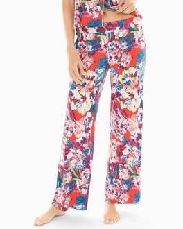Cool Nights Pajama Pants Artistic Floral Grenadine