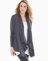 Live. Lounge. Wear. Soft Jersey Peplum Lounge Wrap Heather Quartz