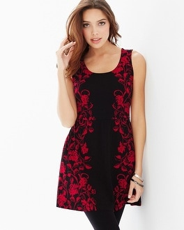 Live. Lounge. Wear. Soft Jersey Sleeveless Peplum Tunic Perfection Ruby