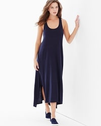 Natori Cosi Sleeveless Maxi Dress Indigo Blue