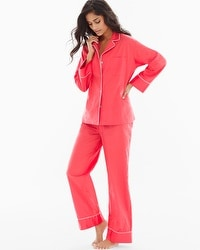Natori Cotton Sateen Crop Pajama Set