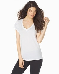 Barefoot Dreams Cotton Short Sleeve V-Neck Tee