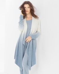 Barefoot Dreams Chic Lite Calypso Wrap Ombre Pearl/Chambray