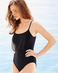 Gottex Vintage Glam Round Neck One Piece Swimsuit