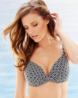 Captiva Coastal Vichy Sanibel Push Up Swim Bikini Top