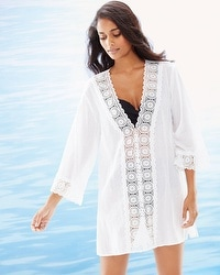 La Blanca Island Fare V-Neck Cotton Swim Cover Up