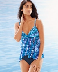 Profile by Gottex Blue Lagoon Flyaway Tankini Swim Top