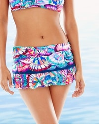 Profile by Gottex Madame Butterfly Skirted Swim Bottom Multi