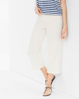 Premium Cotton Crop Pants Ivory