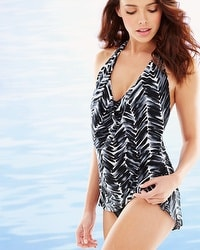 Magicsuit Herringbone Sophie Swim Tankini Top Black/White