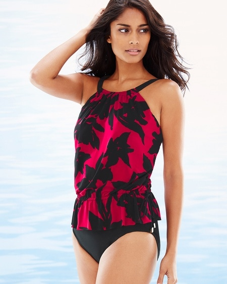 Mystique Jodi Swim Tankini Top Red Vamp