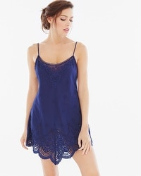 In Bloom by Jonquil Capistrano Cotton Sleep Chemise Navy
