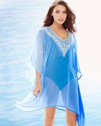 Lucky & Coco Embellished Ombre Tahiti Swim Cover Up