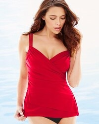 Miraclesuit Solid Rumba Tankini Swim Top Red