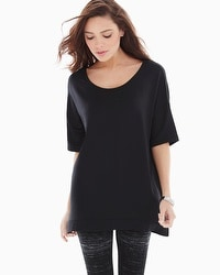 Live. Lounge. Wear. Divine Terry Draped Top Black