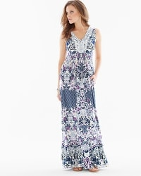 Crochet-Trim Maxi Dress Illustrious Navy