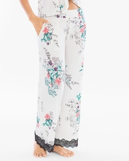 Cool Nights Lace Trim Pajama Pants