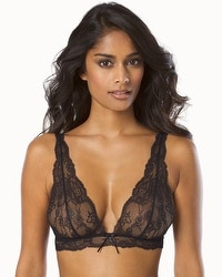Silent Assembly Zia Lace Bralette Black