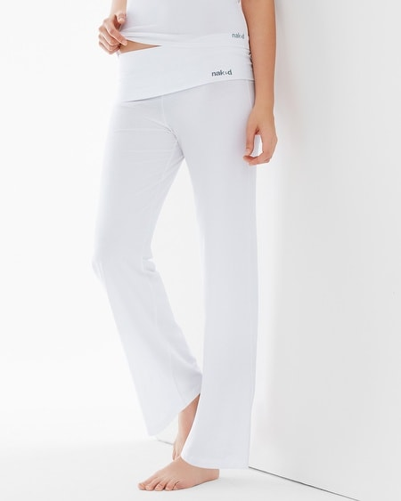 Essential Cotton Blend Pants White