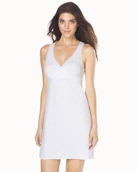 Essential Cotton Blend Chemise White