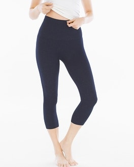Slimming Crop Leggings Denim Blue