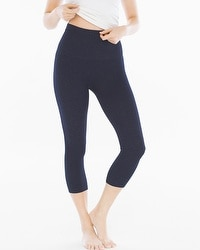 Live. Lounge. Wear. Slimming Crop Leggings Denim Blue
