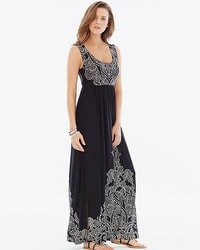 Scoopneck Maxi Dress Coastal Placement Black