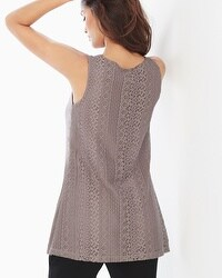 Live. Lounge. Wear. Crochet Back Tank Smokey Taupe