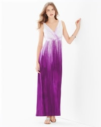 Surplice Sleeveless Maxi Dress Untold Ombre Orchid