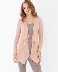 Live. Lounge. Wear. Soft Jersey Lounge Wrap Cameo Rose